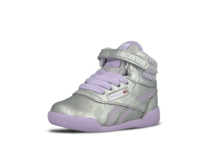 BUTY REEBOK FREESTYLE HI SP SilverPurple Kids (AR0734)